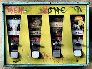 Kaugummiautomat in Sachenhausen