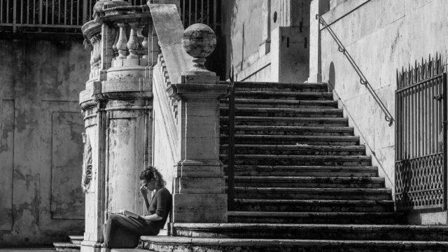 Studentin in Rom